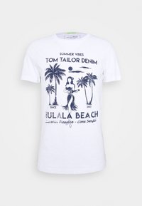 TOM TAILOR DENIM - Triko s potiskem - white - 4
