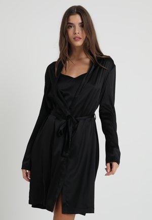 REWARD SHORT ROBE - Dressing gown - black