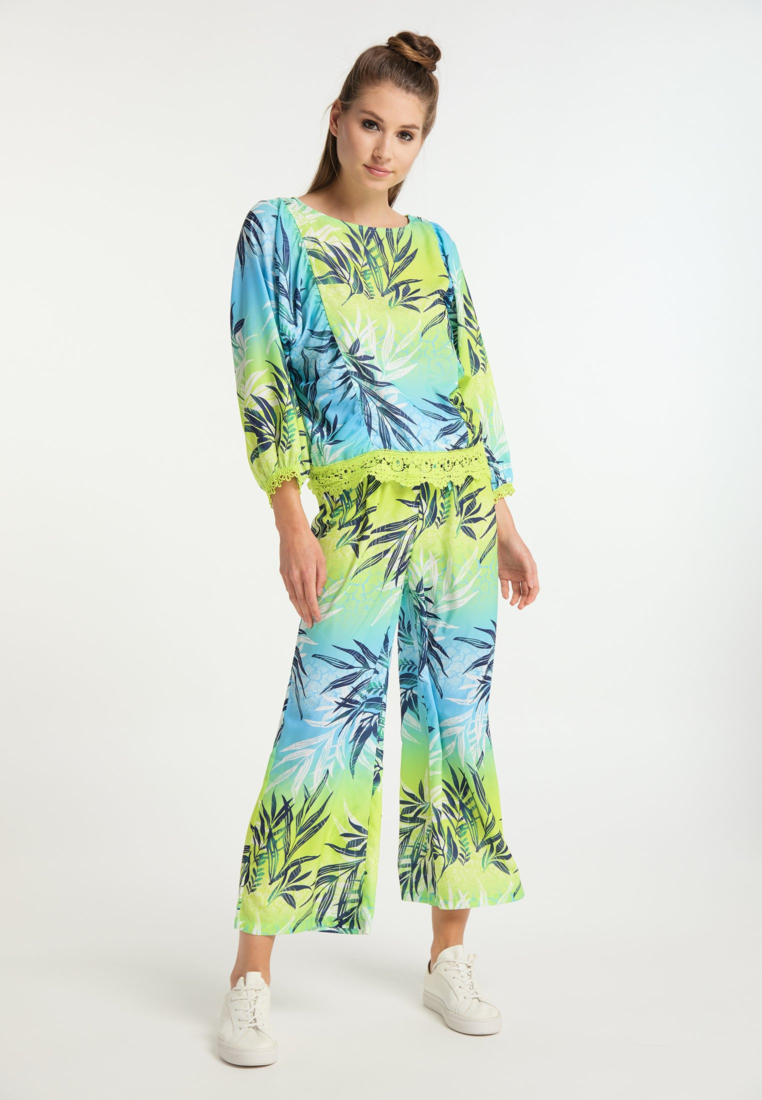 Popular And Cheap Women's Clothing myMo Blouse tropical print wXDetmd5R