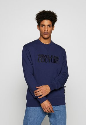 CREW BASIC LOGO EMBROIDERED - Felpa - blue