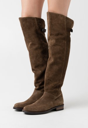 OMER - Kozačky nad kolena - coroil dust