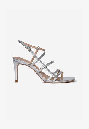 SAHARA - High heeled sandals - silver