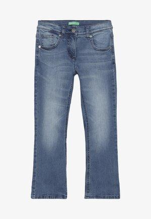 TROUSERS - Bootcut jeans - light-blue denim