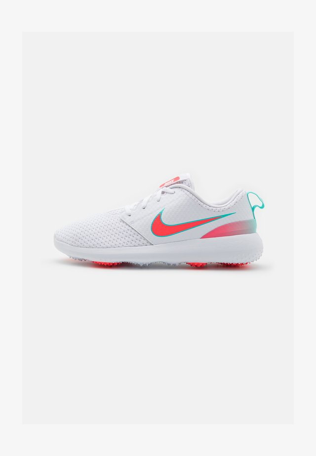 ROSHE G - Golfskor - white/hot punch/aurora green