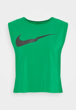 RUN TANK PLEATED - Funkční triko - lucky green/black
