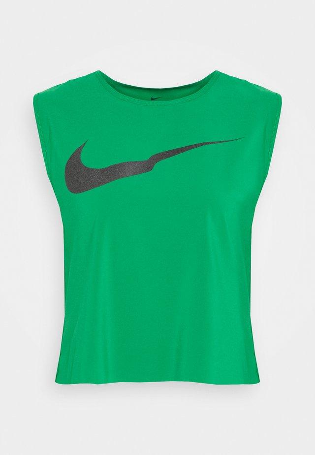 RUN TANK PLEATED - Sports shirt - lucky green/black