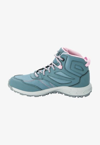WOODLAND TEXAPORE MID K - Hiking shoes - grey pink