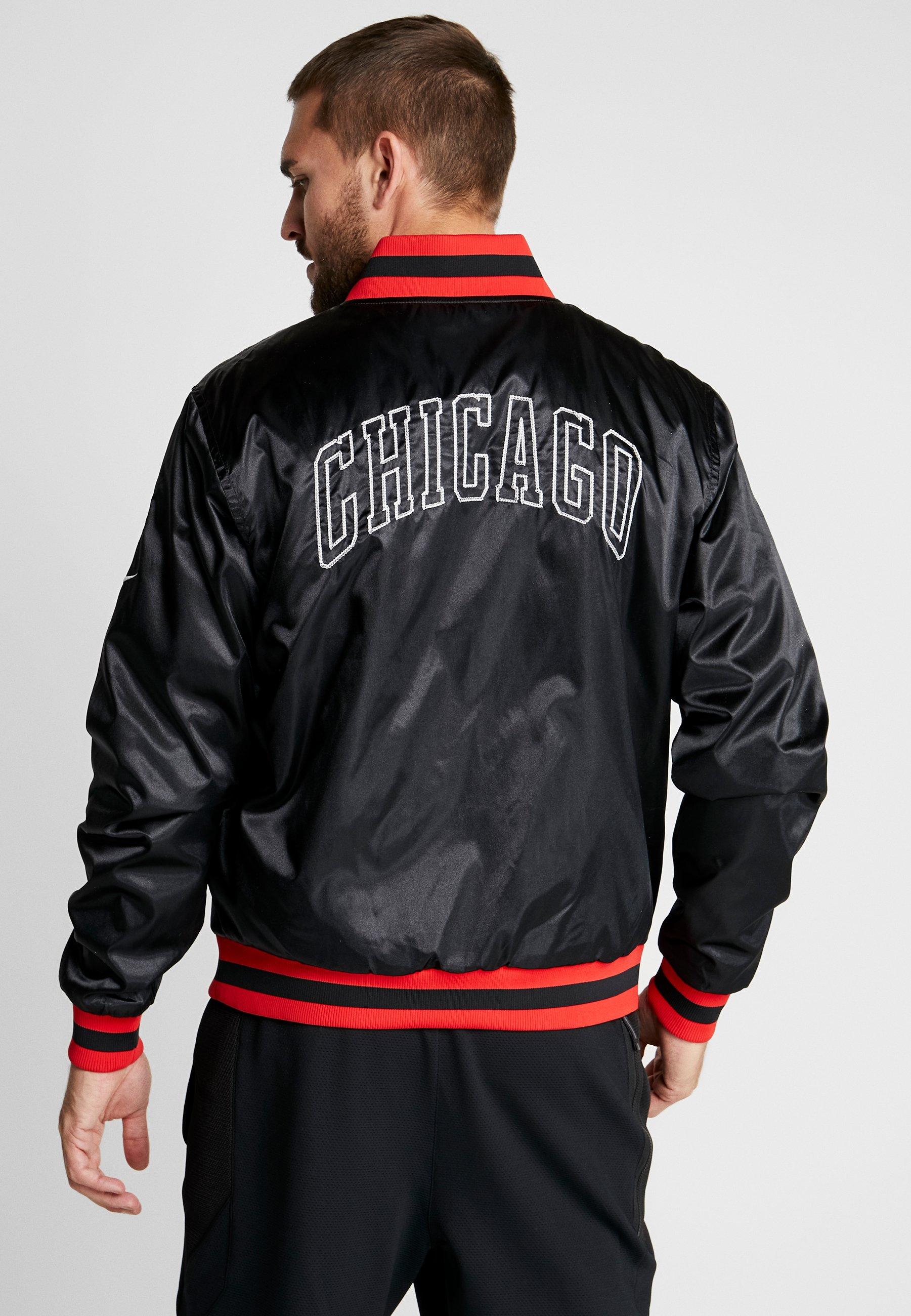NBA CHICAGO BULLS REVERSIBLE COURTSIDE JACKET Vereinsmannschaften blackwhite