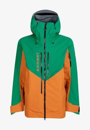 Ski jacket - tumeric-deep emerald