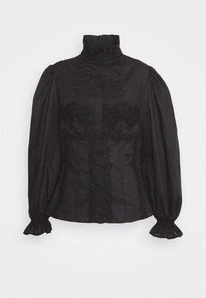 BLOUSE - Button-down blouse - black