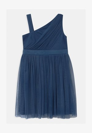 GATHERED ASYMMETRIC  - Cocktail dress / Party dress - indigo blue
