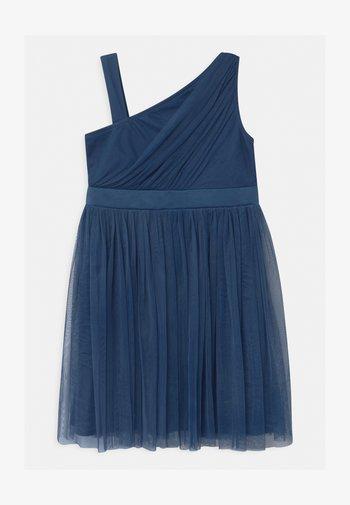 GATHERED ASYMMETRIC  - Cocktailjurk - indigo blue