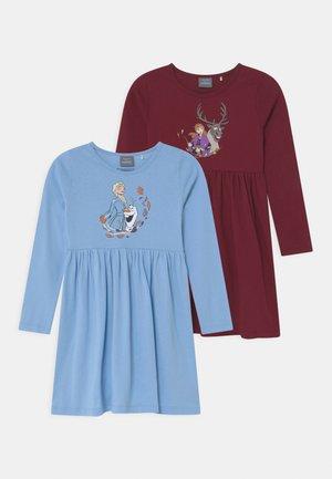 DISNEY FROZEN ELSA & ANNA 2 PACK - Jersey dress - light blue/dark red