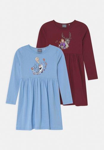 DISNEY FROZEN ELSA & ANNA 2 PACK - Vestito di maglina - light blue/dark red
