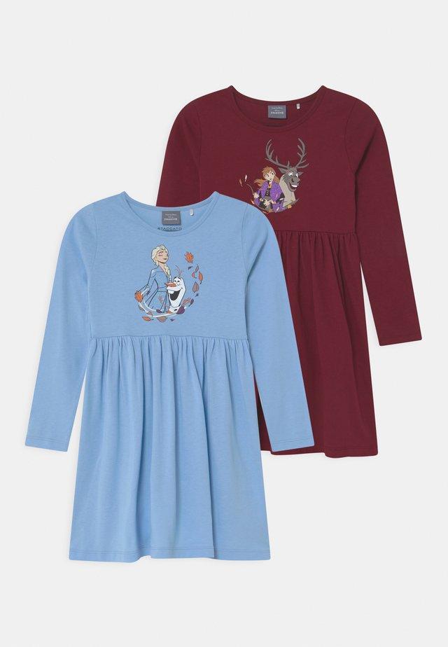 DISNEY FROZEN ELSA & ANNA 2 PACK - Jerseykjole - light blue/dark red