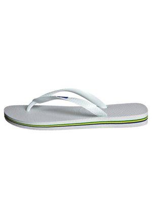 BRASIL LOGO - Pool shoes - white