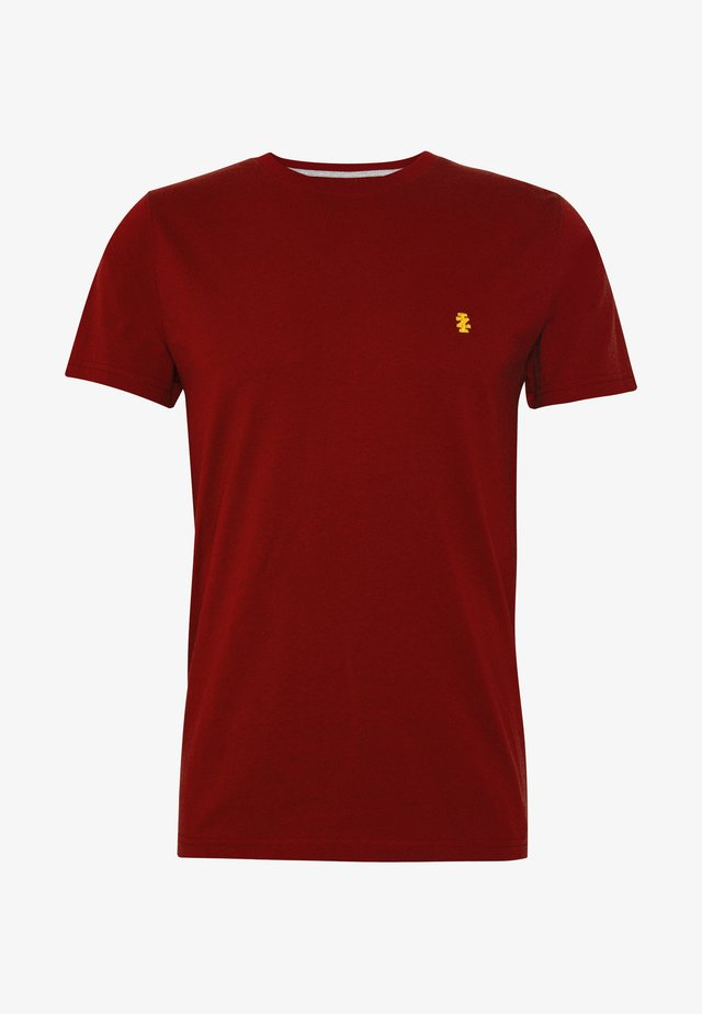 CHEST LOGO SOLID TEE - T-Shirt basic - merlot