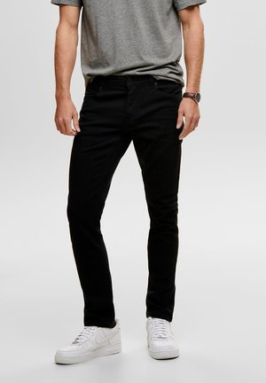 ONSLOOM BLACK - Vaqueros slim fit - black denim
