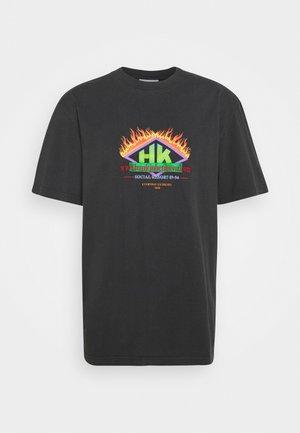 BOXY TEE - Print T-shirt - faded black