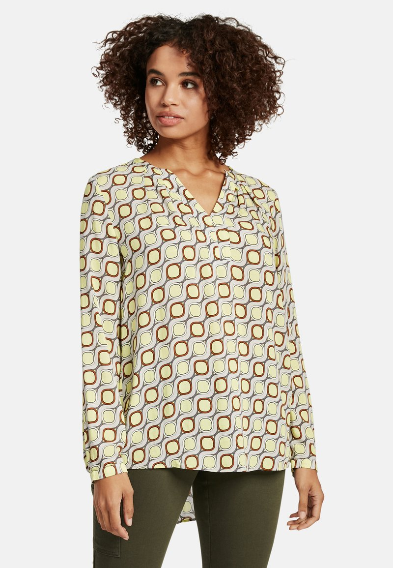 Cartoon - MIT MUSTER - Blouse - taupe/yellow