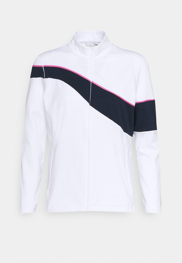 WAVE FULL ZIP - veste en sweat zippée - white