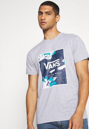 BOX - T-shirt med print - mottled grey