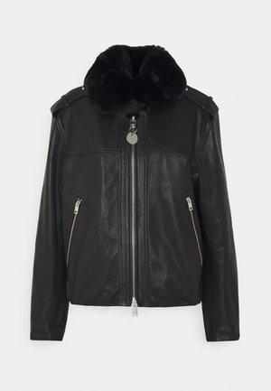 L-LIV JACKET - Kožená bunda - black