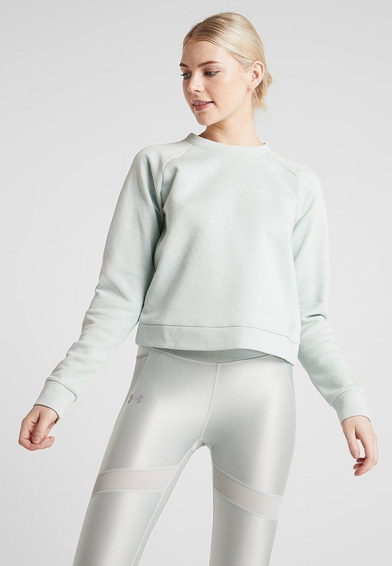 Under Armour - RECOVERY SCRIPT CREW - Sweater - green medium heather/onyx white