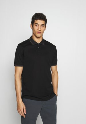 STRIPE POLO - Polo shirt - black