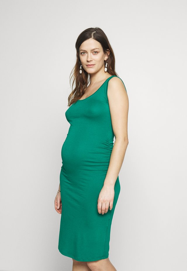 KIZOMBA TANK MATERNITY DRESS - Jerseykjole - green