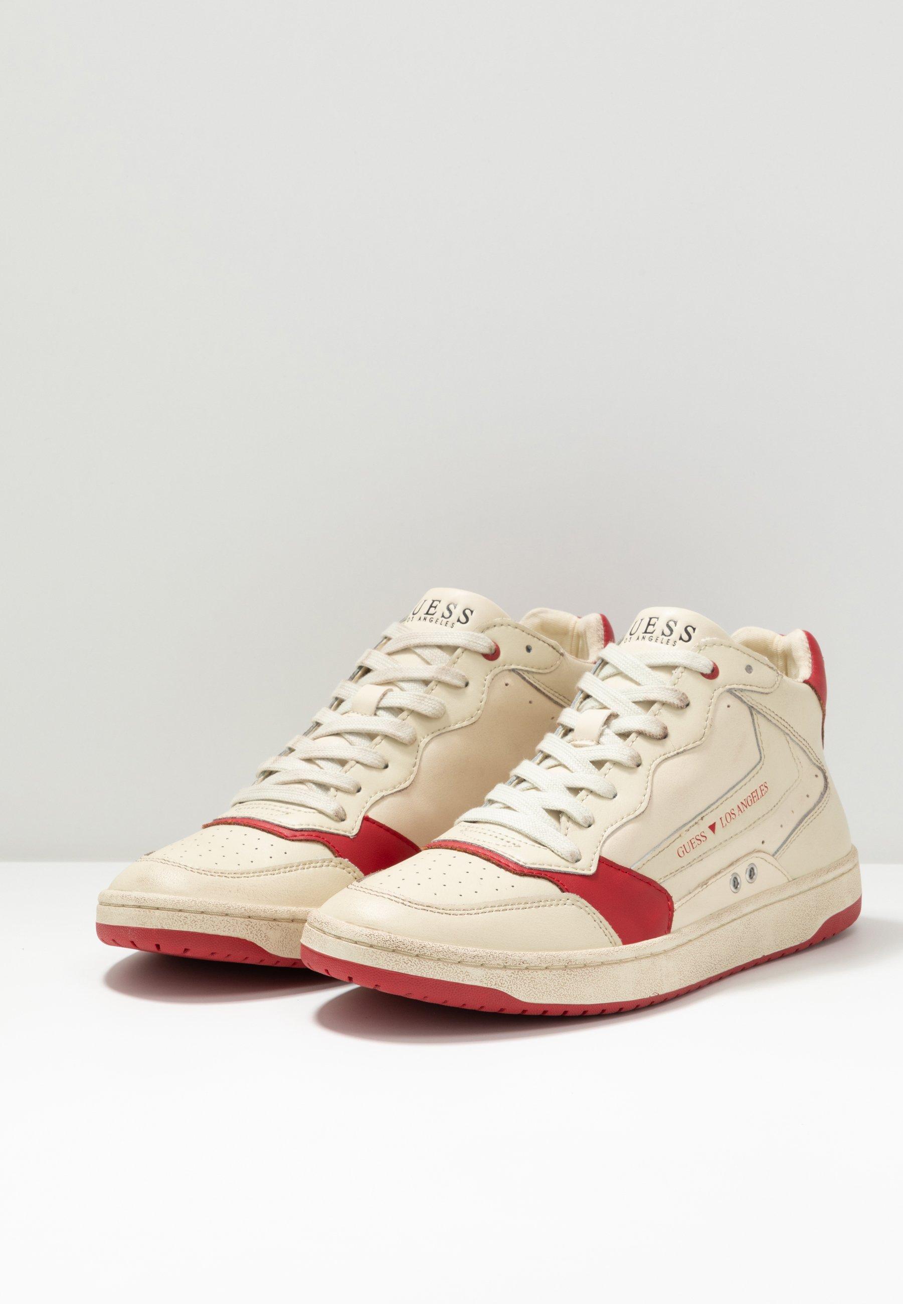 Guess PESARO MID - Sneaker high - white/red/weiß - Herrenschuhe W8uyq