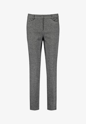 Trousers - black gemustert