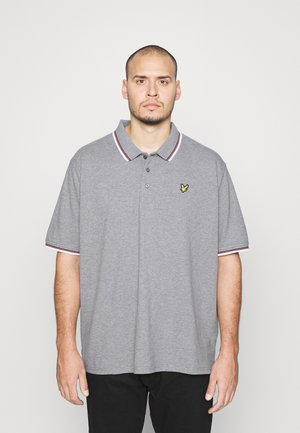 TIPPED - Polo - mid grey marl/white