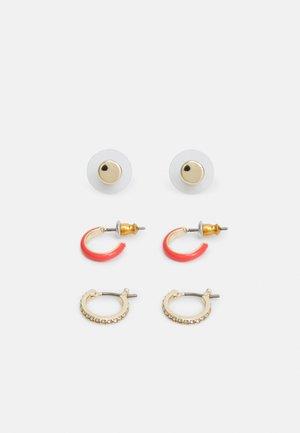ENAMEL HOOP 3 PACK - Earrings - gold-coloured