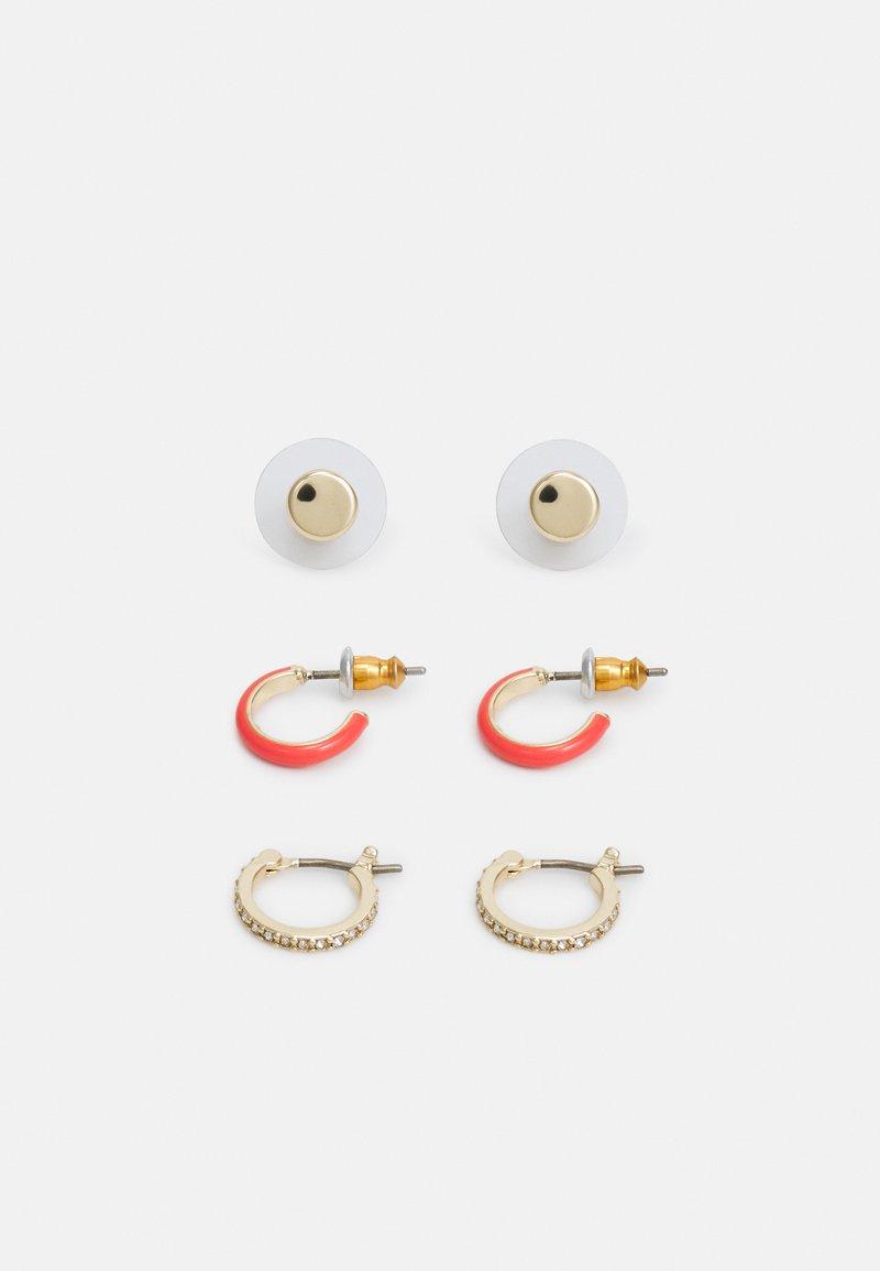 DKNY - ENAMEL HOOP 3 PACK - Earrings - gold-coloured