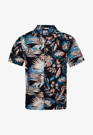 SHORT SLEEVE CUT & SEW HAWAIIAN  - Overhemd - black fur