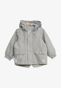 Wheat - Waterproof jacket - dove melange - 0