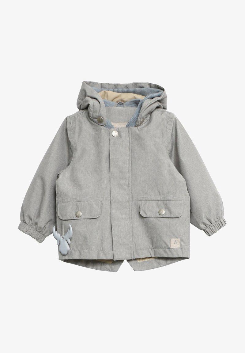 Wheat - Waterproof jacket - dove melange