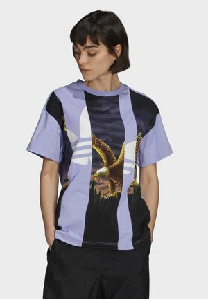 Dry Clean Only xGRAPHIC TEE - Print T-shirt - light purple
