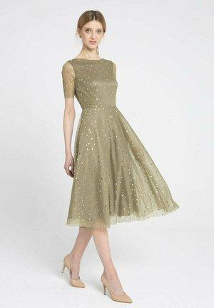 Sukienka koktajlowa - oliwkowy