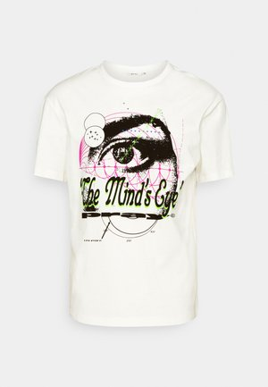 MINDS EYE UNISEX - T-shirt print - off white