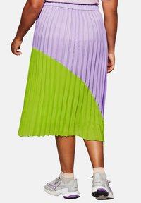 Sheego - A-line skirt - lime/lilac - 2