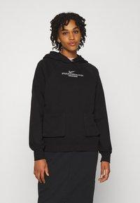 Nike Sportswear - HOODIE - Sudadera - black/white - 0