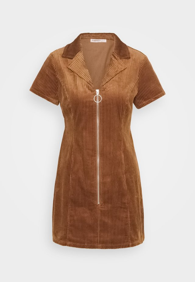 LADIES DRESS - Korte jurk - brown