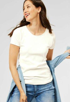 T SHIRT IN UNIFARBE - Basic T-shirt - weiß
