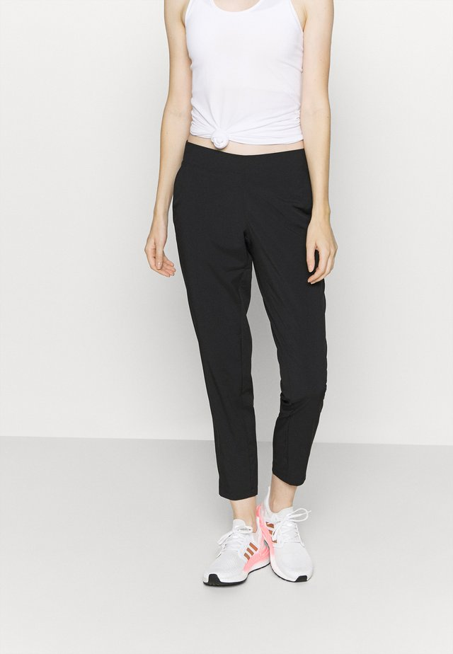 CLASSIC SLIM PANTS - Outdoor trousers - black