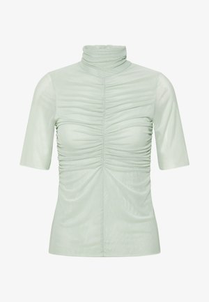 THE RUCHED - T-shirt med print - sage