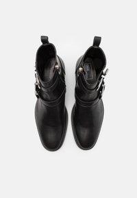 Walk London - HOMBRE CUBAN - Kovbojské/motorkářské boty - black - 3