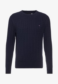 Tommy Hilfiger - CLASSIC CABLE CREW NECK - Neule - blue - 3