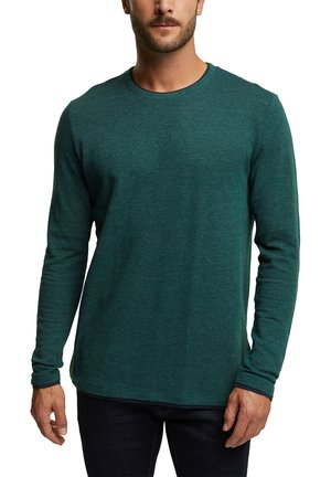 Long sleeved top - bottle green